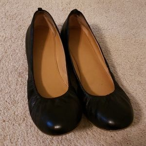 JCrew Factory Black Flats